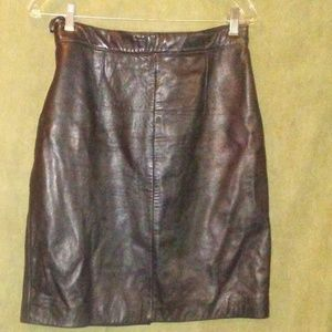 ADLER COLLECTION Leather Skirt